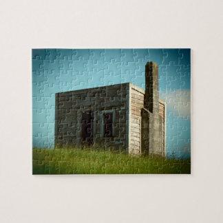 Quebra-cabeça aotearoa velho Nova Zelândia da barraca da cabana