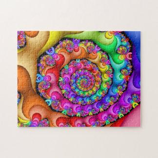 Quebra-cabeça Arco-íris espiral do Fractal