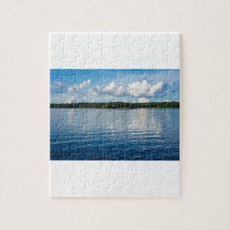 Quebra-cabeça Arquipélago na costa de mar Báltico na suecia