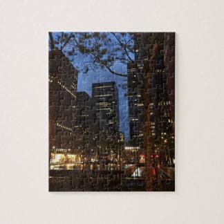 Quebra-cabeça Arquitetura Center New York do alvorecer NYC de