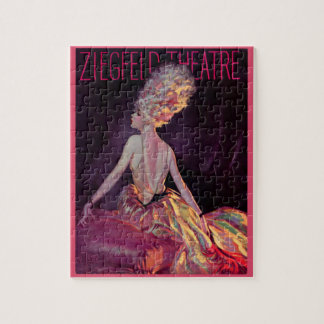 Quebra-cabeça Arte 1927 do cobrir do teatro de Ziegfeld