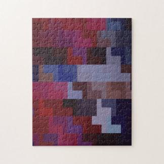 Quebra-cabeça Arte abstracta geométrica azulejos roxos e azuis