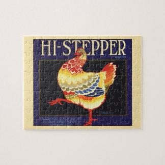 Quebra-cabeça Arte da etiqueta da caixa da fruta do vintage,