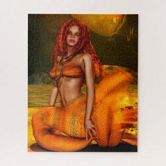 """Quebra-cabeça Arte da fantasia de """"Coraleen"""" da série da sereia"""