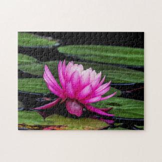 Quebra-cabeça Arte de Waterlily Digital da flor 003 -