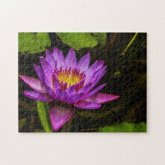 Quebra-cabeça Arte de Waterlily Digital da flor 005 -