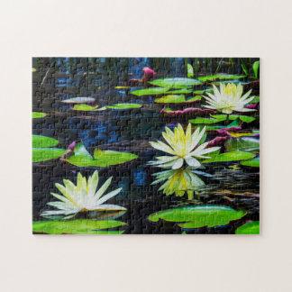 Quebra-cabeça Arte de Waterlily Digital da flor 006 -