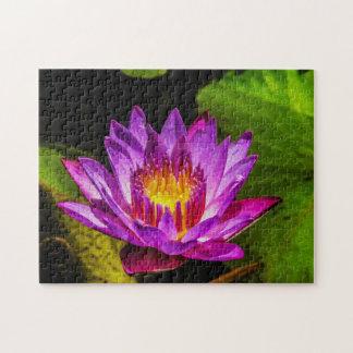 Quebra-cabeça Arte de Waterlily Digital da flor 012 -