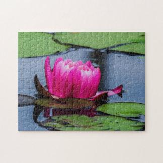 Quebra-cabeça Arte de Waterlily Digital da flor 016 -