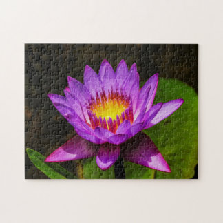 Quebra-cabeça Arte de Waterlily Digital da flor 023 -