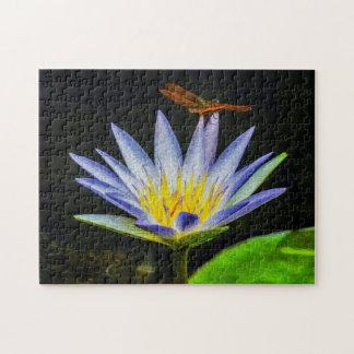 Quebra-cabeça Arte de Waterlily Digital da flor 043 -