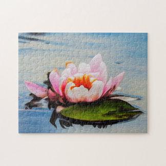 Quebra-cabeça Arte de Waterlily Digital da flor 047 -