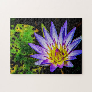 Quebra-cabeça Arte de Waterlily Digital da flor 057 -