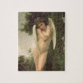 Quebra-cabeça Arte do anjo do Victorian do vintage, Cupido por