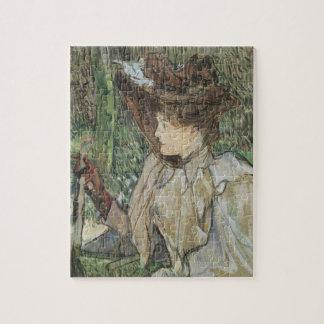 Quebra-cabeça Arte do vintage, mulher com as luvas por Toulouse