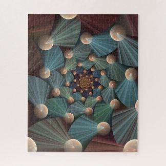 Quebra-cabeça Arte moderna do Fractal com profundidade, Brown,