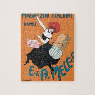 Quebra-cabeça Arte Nouveau do vintage, forma italiana das