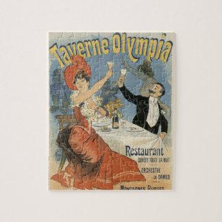 Quebra-cabeça Arte Nouveau do vintage, restaurante da Olympia de