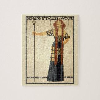 Quebra-cabeça Arte Nouveau Richard Strauss-Woche do vintage.