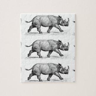 Quebra-cabeça Arte Running dos Rhinos