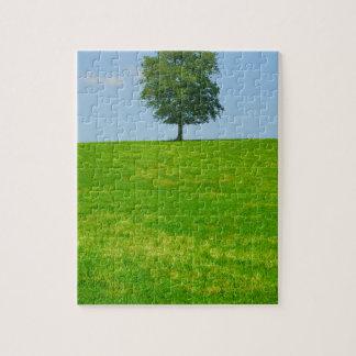 Quebra-cabeça Árvore em um campo