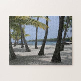 Quebra-cabeça Árvores de coco no lugar do refúgio, Havaí