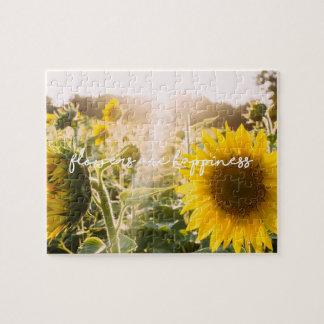 """Quebra-cabeça As citações """"flores do girassol são felicidade """""""