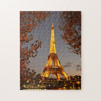 Quebra-cabeça As luzes da excursão Eiffel do La - o
