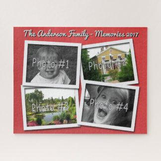 Quebra-cabeça As memórias da família 4 fotos feitas sob