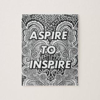 Quebra-cabeça ASPIRE INSPIRAR - citações positivas da indicação