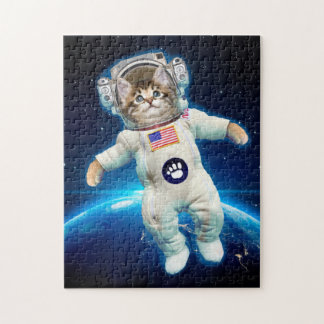 Quebra-cabeça Astronauta do gato - gato do espaço - amante do