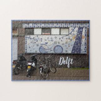 Quebra-cabeça Azul e bicicletas de Delft