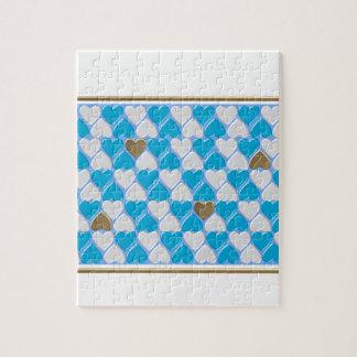 Quebra-cabeça Azul, teste padrão bávaro branco