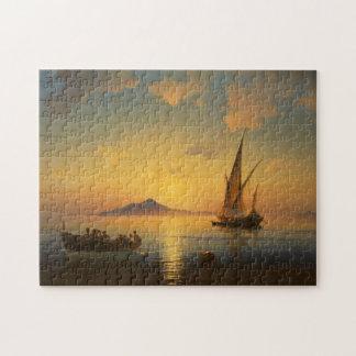 Quebra-cabeça Baía de Nápoles - Ivan Aivazovsky - Seascape