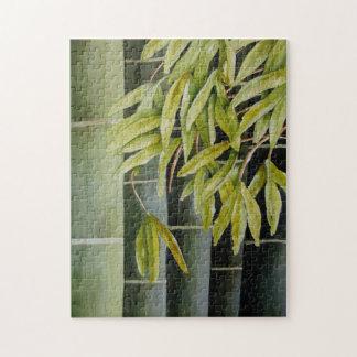 Quebra-cabeça Bambu verde