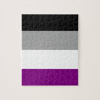 Quebra-cabeça Bandeira assexuada do orgulho