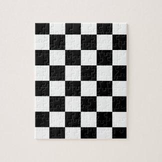 Quebra-cabeça Bandeira Checkered que compete o tabuleiro de