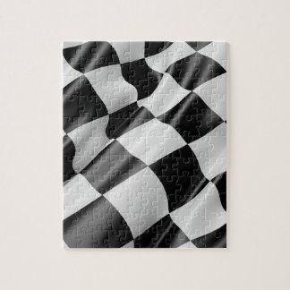 Quebra-cabeça Bandeira de competência de ondulação preto e