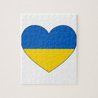 Quebra-cabeça Bandeira de Ucrânia simples