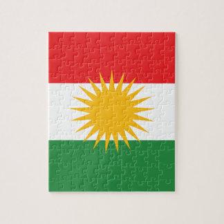 Quebra-cabeça Bandeira do Curdistão; Curdo; Curdo