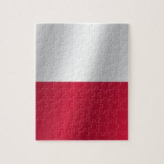 Quebra-cabeça Bandeira do Polônia