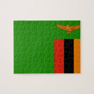 Quebra-cabeça Bandeira nacional do mundo da Zâmbia