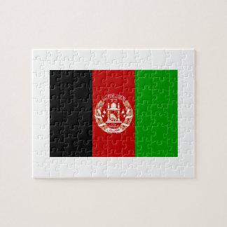 Quebra-cabeça Bandeira nacional do mundo de Afeganistão