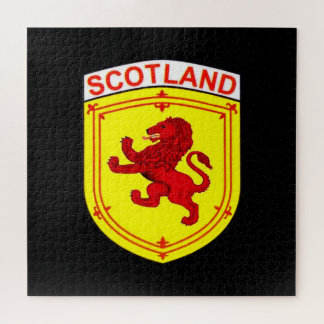 Quebra-cabeça Bandeira/protetor desenfreados vermelhos do leão