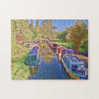 Quebra-cabeça Barcos no canal de Somerset