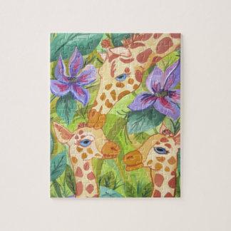 Quebra-cabeça Beijos do girafa (arte de Kimberly Turnbull)