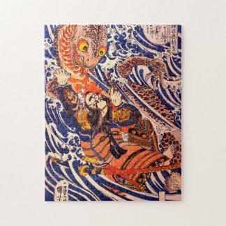 Quebra-cabeça Belas artes de Kuniyoshi do samurai & da