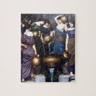 Quebra-cabeça Belas artes do vintage, o Danaides pelo Waterhouse