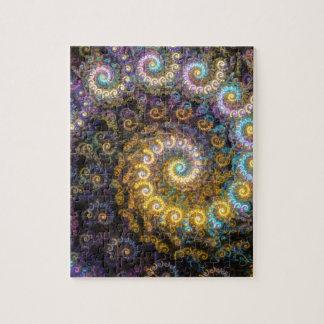 Quebra-cabeça Beleza do fractal do nautilus