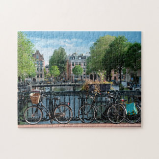 Quebra-cabeça Bicicletas em Amsterdão